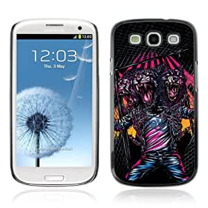 Designer Depo Hard Protection Case for Samsung Galaxy S3 / Cool Triple Head Neon Monster by icecream design