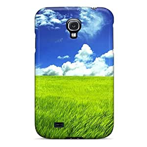 Slim Fit Tpu Protector Shock Absorbent Bumper Green Grassland Case For Galaxy S4