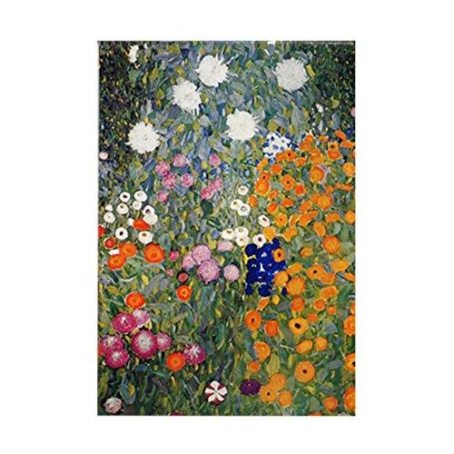 CafePress Gustav Klimt Flower Garden Rectangle Magnet, 2