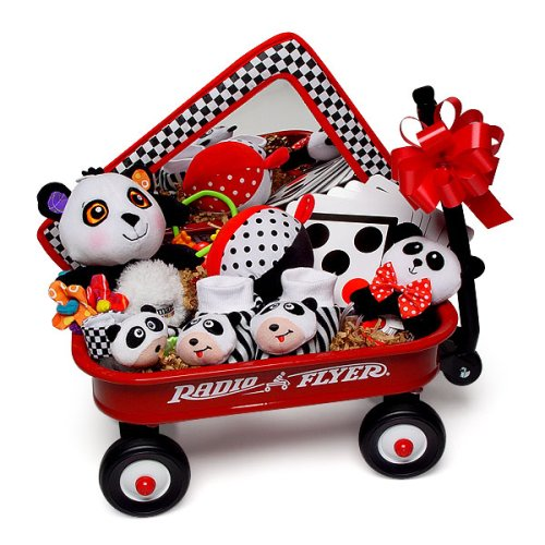 Little Red Radio Flyer Wise Wagon Baby Gift Toy Basket (Shower Baby Wagon)