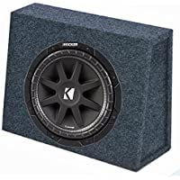 Kicker 10C104 10 300W 4-Ohm Car Audio Subwoofer Sub + Slim Shallow Truck Box