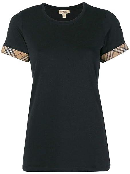 Burberry Mujer 8002947 Negro Algodon T-Shirt: Amazon.es ...