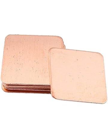 Delicacydex 10 Piezas de Cobre Puro, latón, Caldera del disipador térmico, Almohadilla térmica