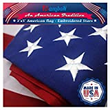 Best American Flag 3x5 Outdoors - RamboN American Flag 3x5 ft. Heavyweight 2-Ply 420D Review