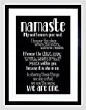 QUOTE TYPOGRAPH TEXT NAMASTE BLACKBOARD DEFINITION FRAMED PRINT F97x11726