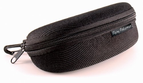 Flying Fisherman Zipper Shell Sunglass Case, Belt Loop and Clip (Black) by Flying Fisherman
