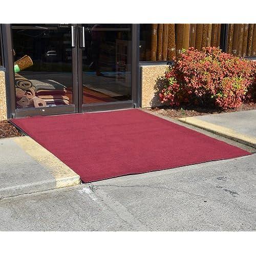 Dean Flooring Company Indoor/Outdoor Patio Deck Boat Entrance Carpet/Rug  Mat With Marine Backing   Size: 6u0027 X 8u0027   Color: Burgundy