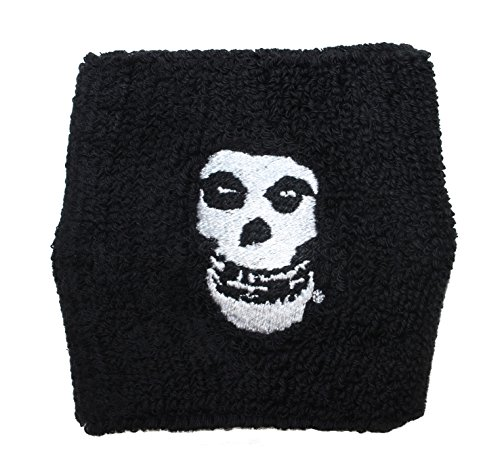 Cool-Patches Misfits Crimson Ghost Skull Band Logo Wristband Sweatband Horror Punk -