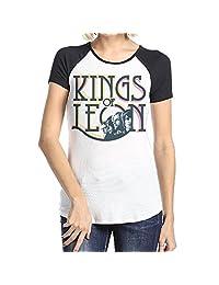 Danielle Women's Kings of Leon Short Sleeve Raglan Baseball T-Shirt Black
