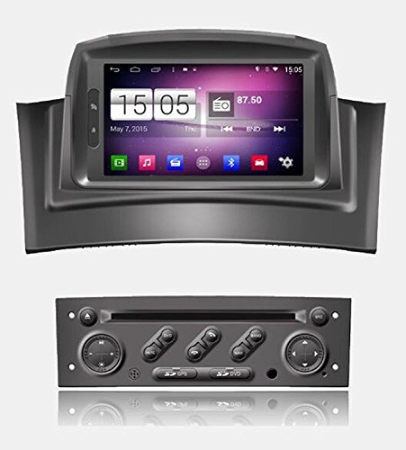 RoverOne Android 4.4.4 In Dash Car DVD GPS Navigation System for Renault Megane 2 II Fluence with Stereo Radio Bluetooth GPS SD USB Mirror Link Touch Canbus S160 Screen