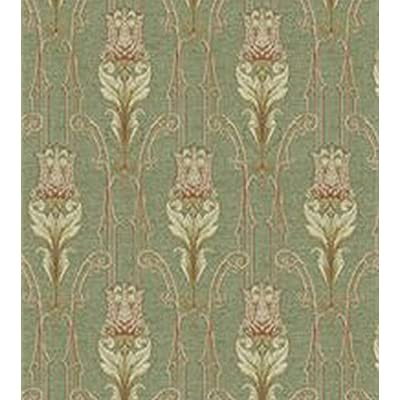 Dollhouse Miniature 1:12 Wallpaper - Tulip Tapestry - Green: Toys & Games
