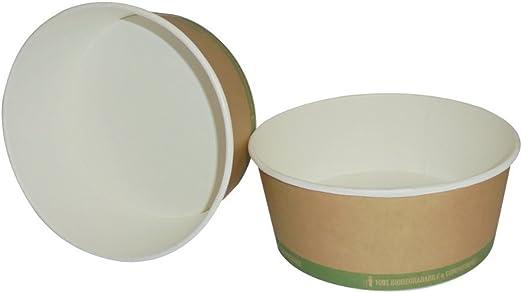 Unidades 25 cuenco redondo de papel biodegradable y compostabile ...