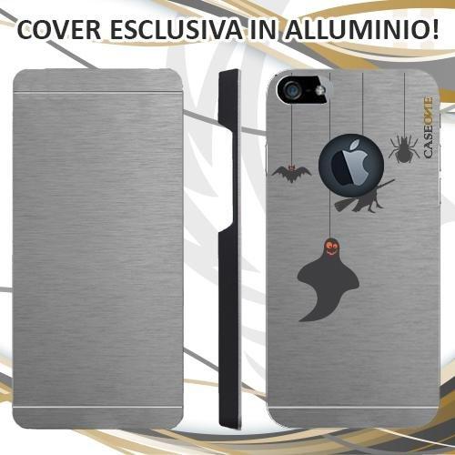 CUSTODIA COVER CASE HALLOWEEN ELEMENTS PER IPHONE 5S ALLUMINIO TRASPARENTE