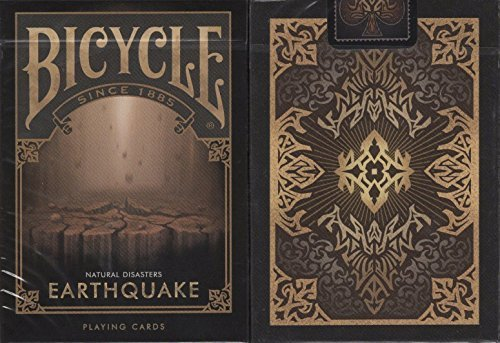 Earthquake Bicycle Playing Cards Poker Size Deck USPCC Custom Limited (Custom Deck Of Cards)