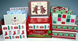 50 Christmas Holiday Greeting Note Cards & Envelopes Box Set (Blank Inside)