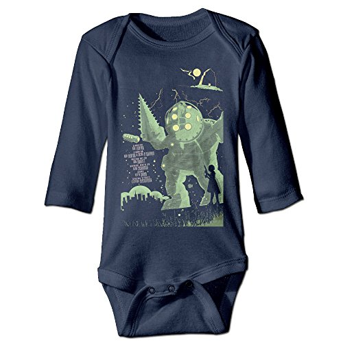 HYRONE Bioshock Game Poster Baby Bodysuit Long Sleeve Climbing Clothes Size 6 M -