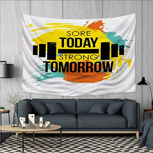 Anhuthree Fitness Tapestry Wall Hanging 3D Printing Sore Tod