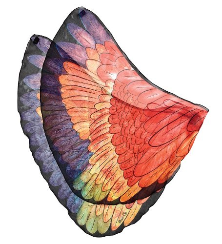 [Fanciful Fabric Fanciful Parrot Wings, in Red] (Parrot Costume Wings)