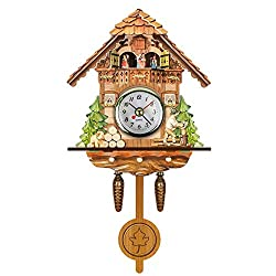 Cuckoo Clocks Mini Wall Clocks Nordic Classical Bird Time Bell Decorations Home Vintage Wall Art For Kitchen