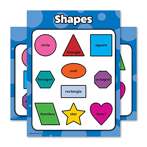Shapes - Educational Poster Chart - LAMINATED - Double Sided (18 x 24) ()