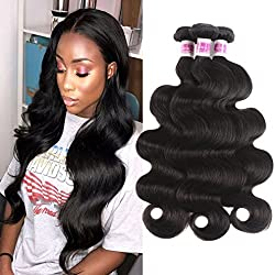 JiSheng Brazilian Body Wave 3 Bundles Deal 8a Grade Virgin Human Hair Extension Natural Color(BW 14 16 18)