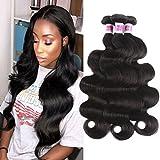 JiSheng Brazilian Virgin Hair Weaving 100 Unprocessed Brazilian Body Wave 3 Bundles Deal 8a Grade Virgin Human Hair Extension Natural Color(BW 22 24 26)