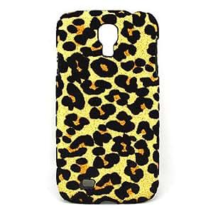 Protector de plástico duro protector de la cubierta del caso con el leopardo patrón de la piel de i9500 Samsung Galaxy S4