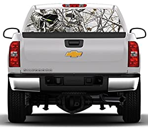 Amazoncom Bow Reaper Snowstorm Camo Inches By Inches - Rear window hunting decals for trucksamazoncom truck suv whitetail deer hunting rear window graphic