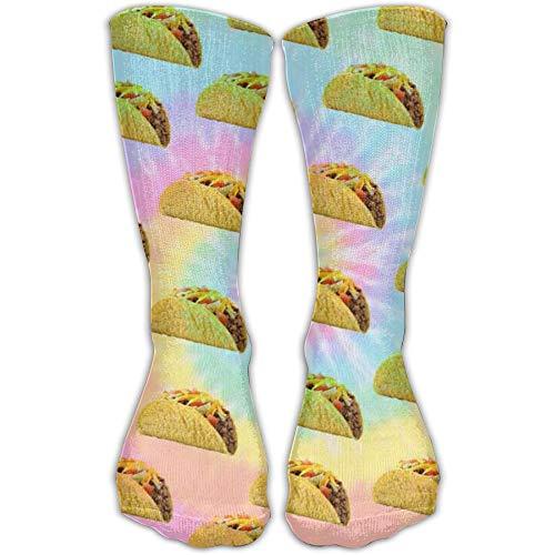 YUANSHAN Socks Taco Wallpaper Women & Men Socks Soccer Sock Sport Tube Stockings Length 11.8Inch]()