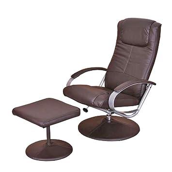 Relaxliege Relaxsessel Fernsehsessel N44 mit Hocker ~ braun ...