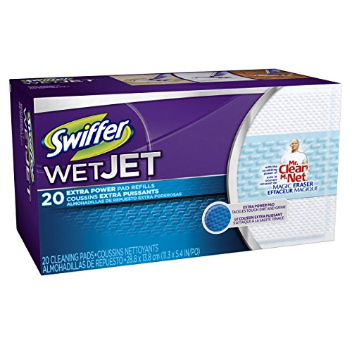 swiffer wetjet pads with the power of mr clean magic eraser 20 count in the uae see prices. Black Bedroom Furniture Sets. Home Design Ideas