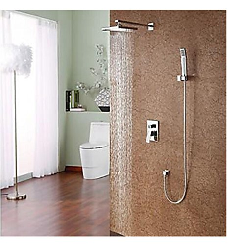 Clear Maifeini The Wall Mount  Rain Shower Mixer Valve Mixer Tap With Shower Chrome, Clear