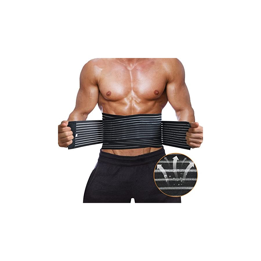 Lumbar Back Brace and Support Belt for Lower Back Pain by DECEYO