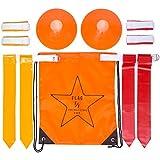 Flag Football Set: 10 Belts, 20 Flags, 4 Cones, Carry Bag & Bonus Playbook (eBook)