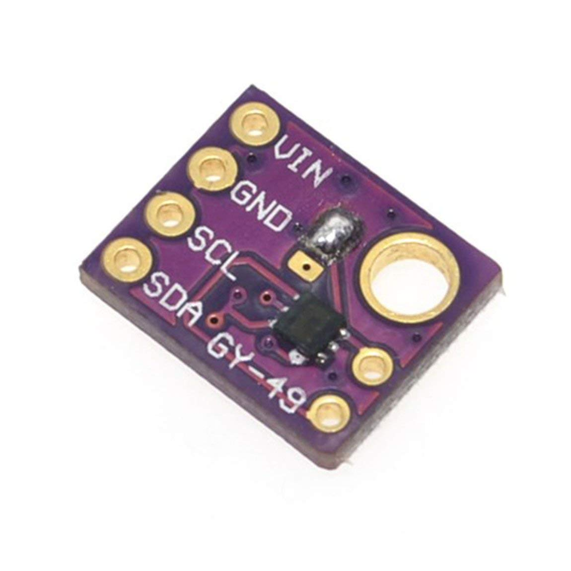 GY-49 Professional High Precision MAX44009 Ambient Light Sensor Module for Arduino with 4P Pin Header MF Purple