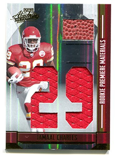 2008 Jamaal Charles RC Absolute Rookie Premiere Materials #/100 Football & Jersey Kansas City Chiefs Trading Card #257