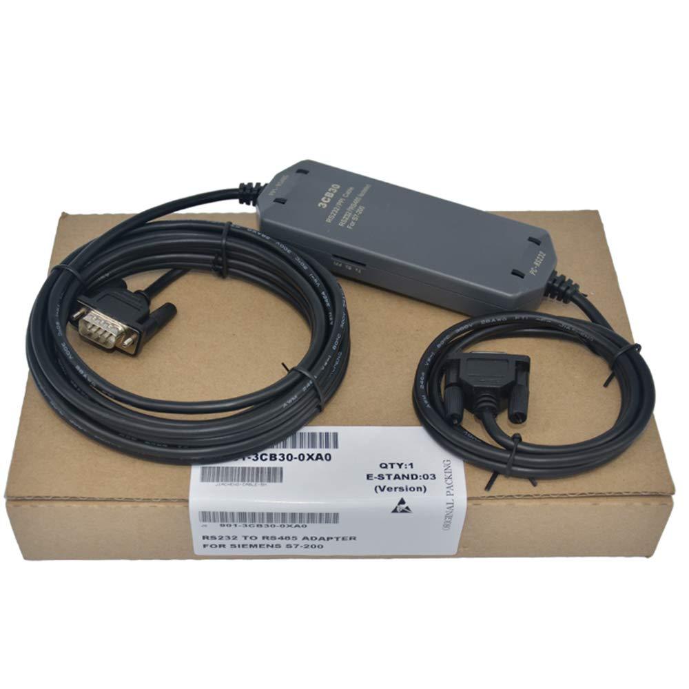 Adaptador Compatible Siemens 6ES7901-3CB30-0XA0 L/ínea de Descarga PC-PPI Cable con Protecci/ón Completa Aislado RS232//PPI PC//PPI 1Pack S7-200 PLC Cable de Programaci/ón PC-PPI