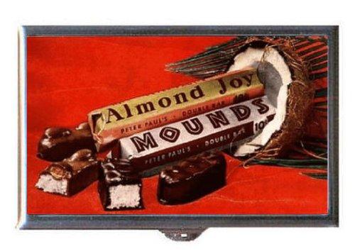 1950's Chocolate (Mounds Almond Joy 1950s Chocolate Bars Retro Ad Guitar Pick or Pill Box USA Made)