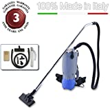 EOLO ASPIRATEUR DORSAL SAC SEMIPROFESSIONNEL + KIT ACCESSOIRES LP37 MADE IN UE