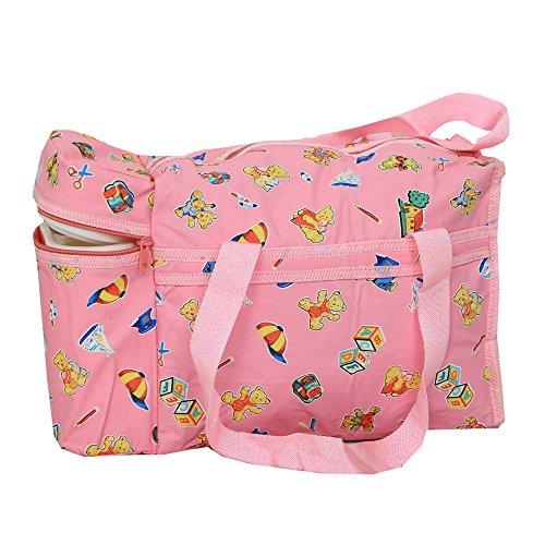 Kuber industrias comedero de bolsa de pañales, bolsa, bolsa de cambiar pañales, bolsa de la Mamma (Cutie Conejo Print- rosa)