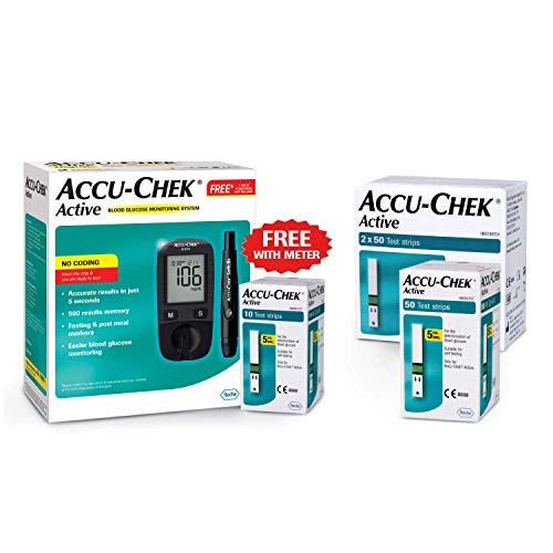 Accu Chek Glucometer with Active Strips - 160 Strips (Multicolor) (B078756SQF) Amazon Price History, Amazon Price Tracker