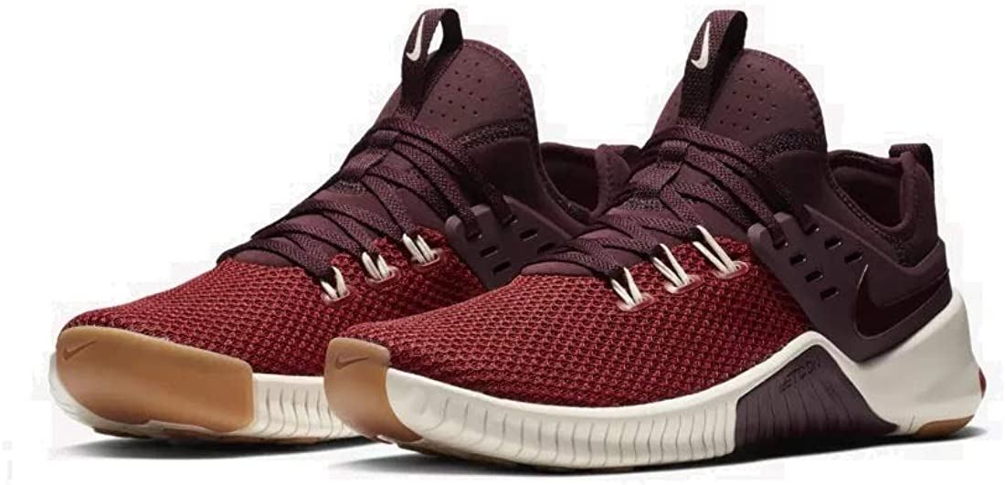 Nike Free Metcon Mens Ah8141-626 Size 9, Dune 赤/Light Cream/Glacier 青/Burgundy Crush
