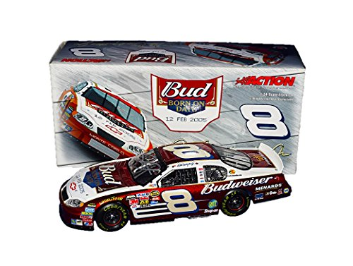 AUTOGRAPHED 2005 Dale Earnhardt Jr. #8 Bud Born on Date (Feb 12th) DAYTONA BUD SHOOTOUT CAR Signed Brookfield Collector Guild 1/24 NASCAR Diecast Car with COA (#135 of only 408 produced!)