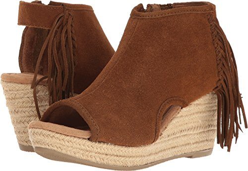 Minnetonka Women's Blaire Suede Wedge Shoes, Dusty Brown, 7
