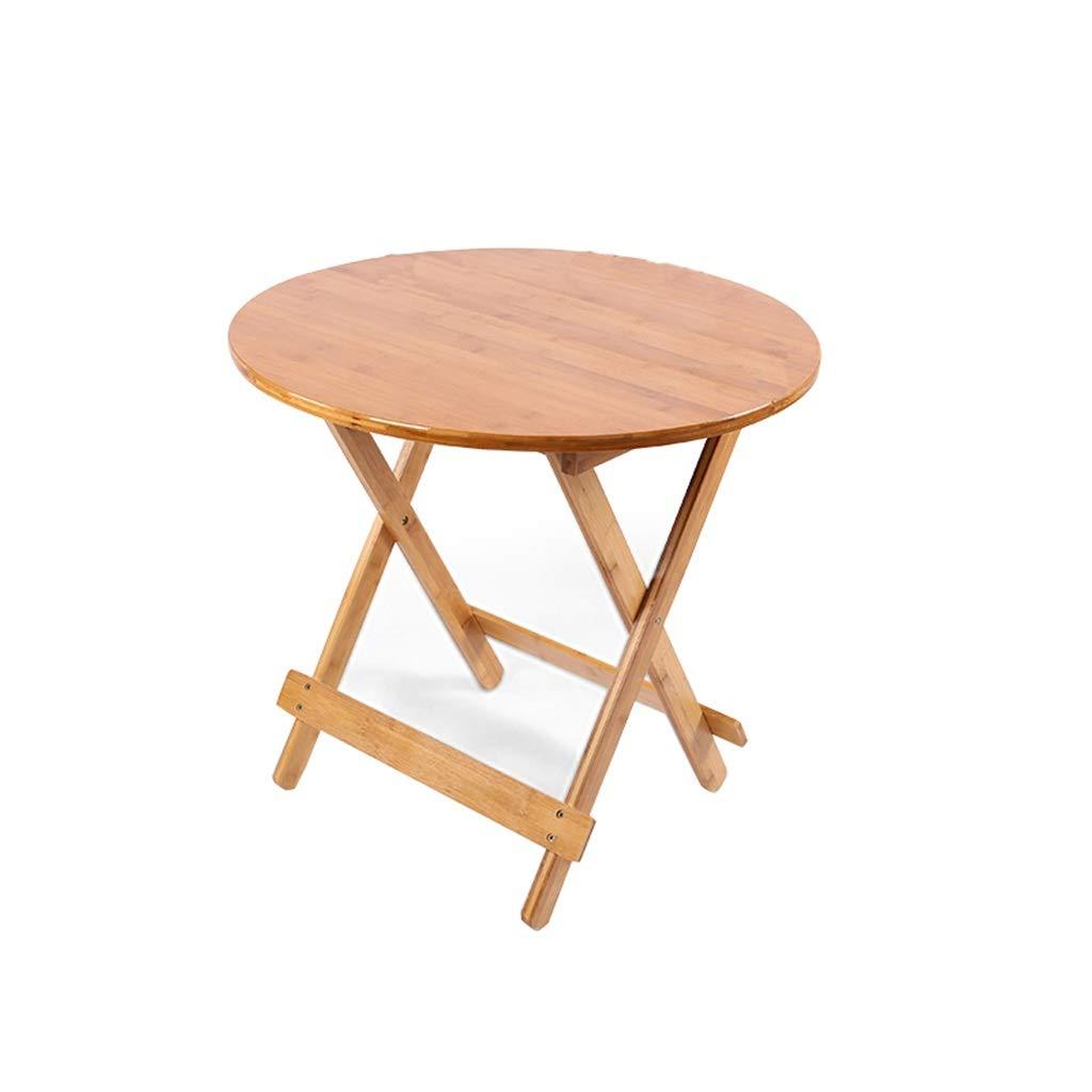 折りたたみテーブル、家庭用キッチンダイニングテーブルスクエアテーブルラウンドテーブル屋外キャンプテーブルポータブル研究テーブル (Size : 70*70*56~60CM(Round)) 70*70*56~60CM(Round)  B07SRY235L