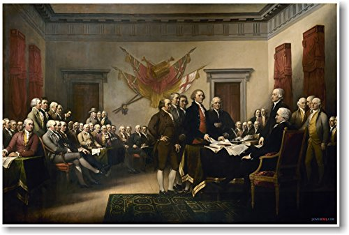 John Trumbull - 1819 - Declaration of Independence - NEW Fine Arts Poster