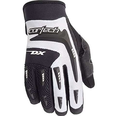 Cortech DX 2 Women's Textile Sports Bike Racing Motorcycle Gloves - Black/White / Small - Textile Motorcycle Gloves