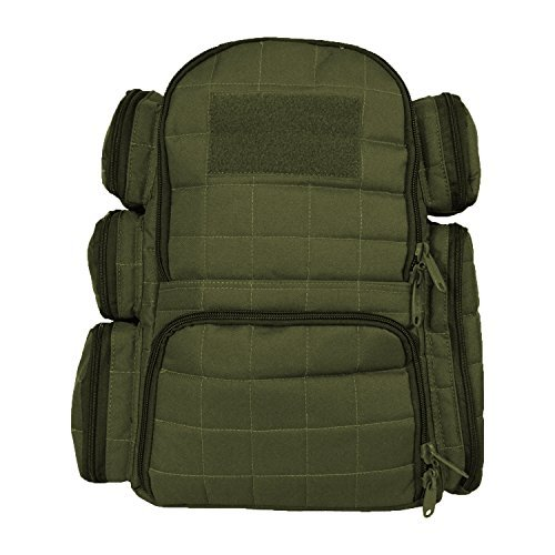 Section Heavy Duty Range - EXPLORER Tactical Heavy Duty Range Backpack with Adjustable Compartments OD Green