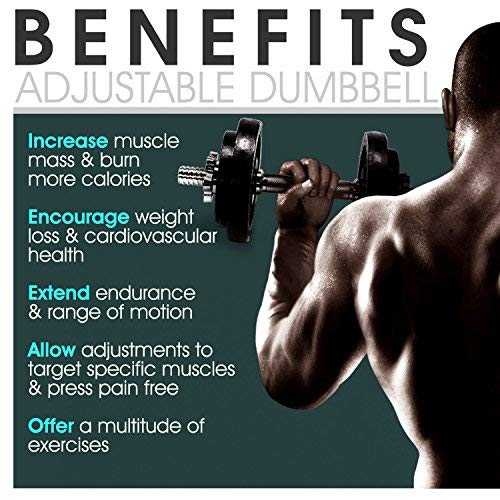 Yes4All Adjustable Dumbbells - 200 lb Dumbbell Weights (Pair) by Yes4All (Image #5)