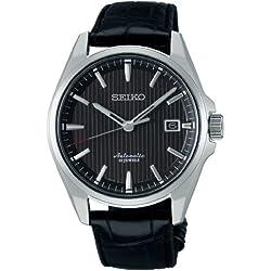 Seiko SARX017 Men's Analog Presage Mechanical Self-Winding Black Watch